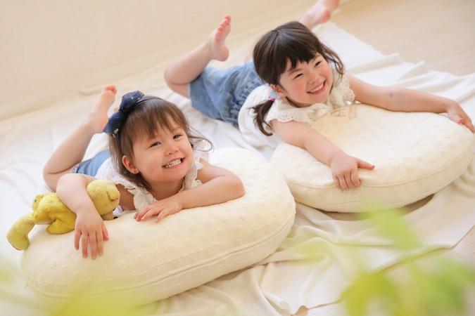 子供たちにとっても程よい柔らかさで心地よい円座クッション